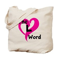 L Word Heart Tote Bag