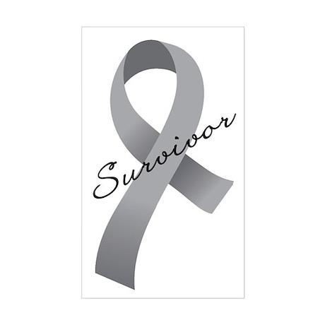 Brain Tumor Survivor Sticker (Rectangle)