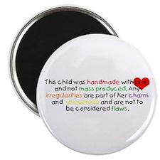 Handmade With Love girl Magnet