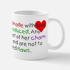 Handmade With Love girl Small Small Mug