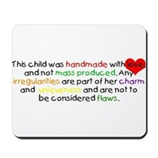 Handmade With Love girl Mousepad