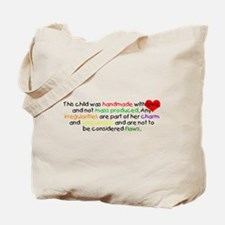 Handmade With Love girl Tote Bag