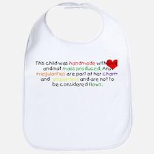 Handmade With Love girl Bib