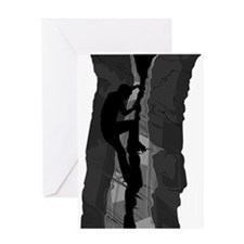 Rock Climbing Silhouette Greeting Card