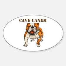 Cave Canem (Bulldog) Oval Decal