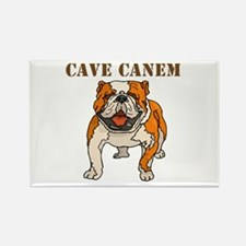 Cave Canem (Bulldog) Rectangle Magnet (10 pack)