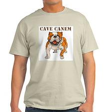 Cave Canem (Bulldog) Ash Grey T-Shirt