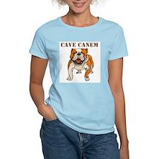 Cave Canem (Bulldog) Women's Pink T-Shirt