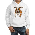 Cave Canem (Bulldog) Hooded Sweatshirt