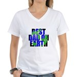 Best Dad on Earth Women's V-Neck T-Shirt