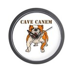 Cave Canem (Bulldog) Wall Clock