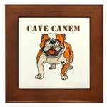 Cave Canem (Bulldog) Framed Tile