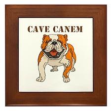 Cave Canem (Bulldog) Framed Tile