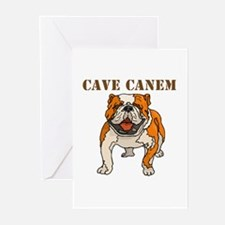 Cave Canem (Bulldog) Greeting Cards (Pk of 10)
