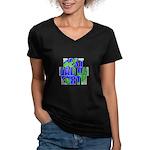 Best Dad on Earth Women's V-Neck Dark T-Shirt