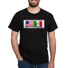 USA & MEXICO UNITE Black T-Shirt