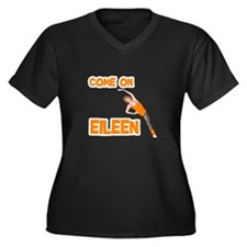 Eileen Women's Plus Size V-Neck Dark T-Shirt