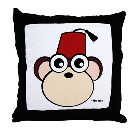 Fez Monkey Throw Pillow