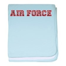 Air Force Zebra Red baby blanket