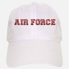 Air Force Zebra Red Baseball Baseball Cap