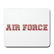 Air Force Zebra Red Mousepad