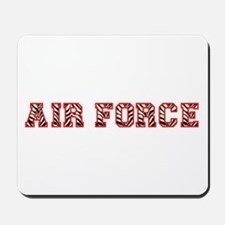 Air Force Zebra Red Mousepad
