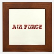 Air Force Zebra Red Framed Tile