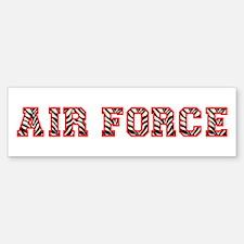 Air Force Zebra Red Bumper Bumper Sticker