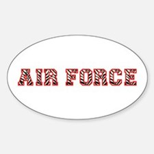 Air Force Zebra Red Decal