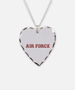 Air Force Zebra Red Necklace