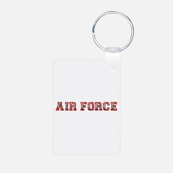 Air Force Zebra Red Keychains