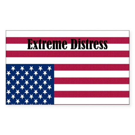 Extreme Distress Rectangle Sticker