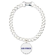 Air Force Zebra Dark Blue Charm Bracelet, One Char