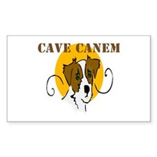 Cave Canem (Jack Russell) Rectangle Decal