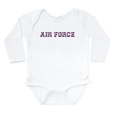 Air Force Zebra Dark Purple Long Sleeve Infant Bod