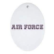 Air Force Zebra Dark Purple Ornament (Oval)