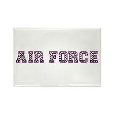 Air Force Zebra Dark Purple Rectangle Magnet (10 p