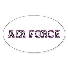 Air Force Zebra Dark Purple Decal