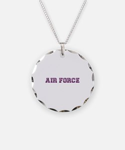Air Force Zebra Dark Purple Necklace