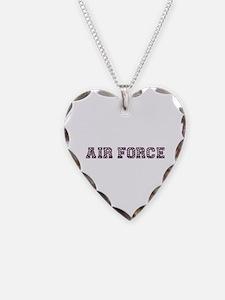 Air Force Zebra Dark Purple Necklace