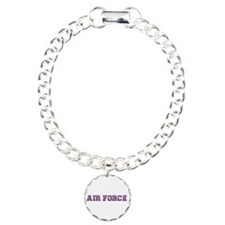 Air Force Zebra Dark Purple Charm Bracelet, One Ch
