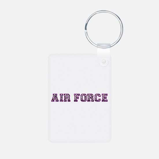 Air Force Zebra Dark Purple Keychains