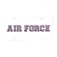 Air Force Zebra Dark Purple Aluminum License Plate