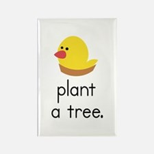 """Plant a Tree"" (bird) Rectangle Magnet"