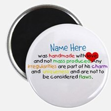Handmade With Love Boys Customised Magnet