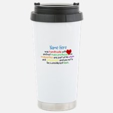 Handmade With Love Boys Customised Travel Mug