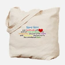 Handmade With Love Boys Customised Tote Bag