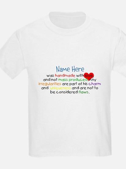 Handmade With Love Boys Customised T-Shirt
