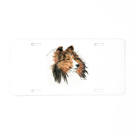 Sable Shetland Sheepdog Sheltie Aluminum License P