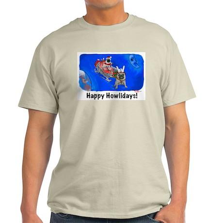 Howliday Pugs Ash Grey T-Shirt